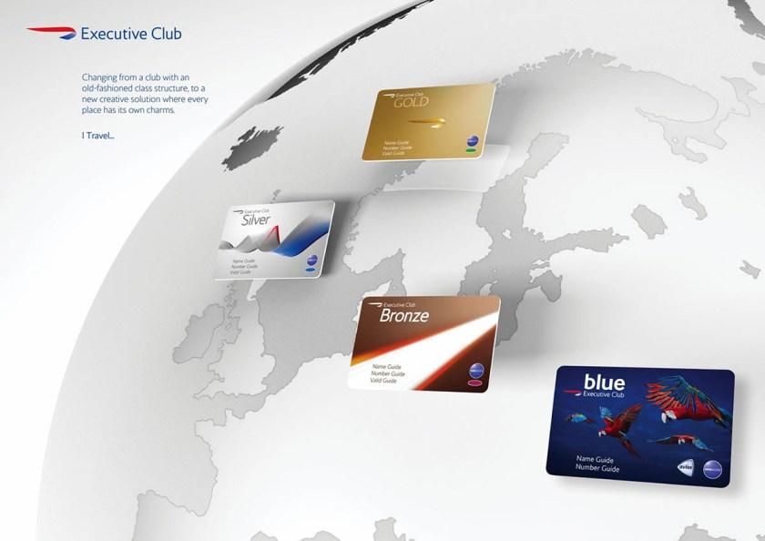 British Airways Executive Club Cards