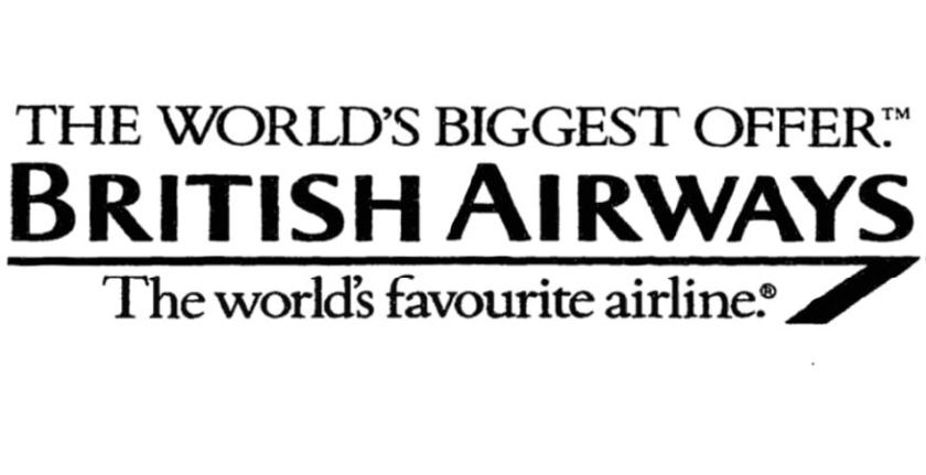 """The World's Biggest Offer"" British Airways, March 1991"