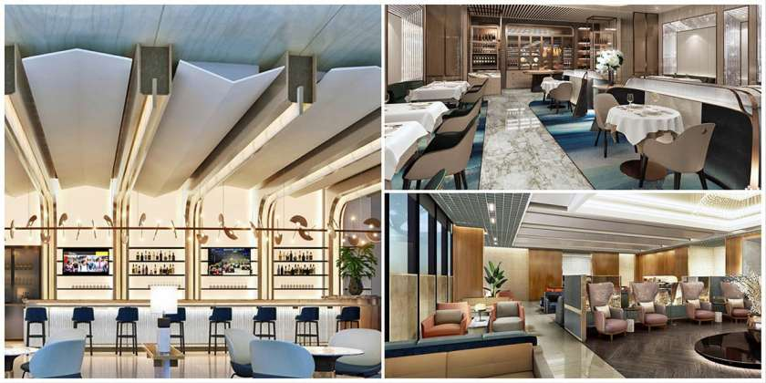 Artist impression of new Singapore Airlines lounges, Terminal 3, Singapore Changi Airport