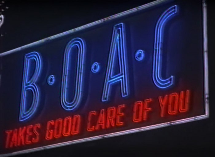 """BOAC Takes Good Care Of You"""