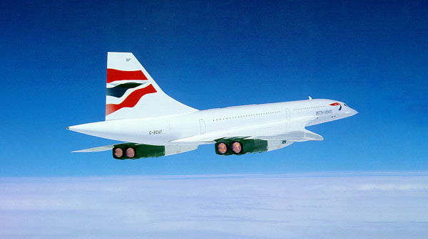 British Airways Concorde G-BOAF Chatham Dockyard Livery