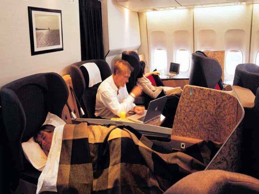 British Airways FIRST Cabin Interior, circa 2001