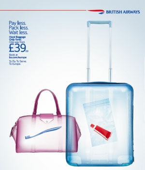 British Airways Hand Baggage Only Fares