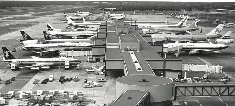 British Caledonian Aircraft at Gatwick Airport 1978