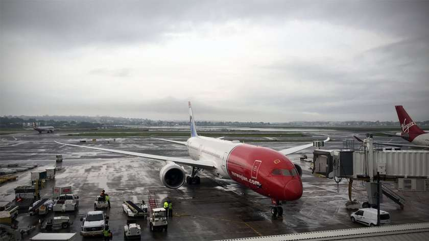 Norwegian Boeing 787 Aircraft, Boston Logan International Airport