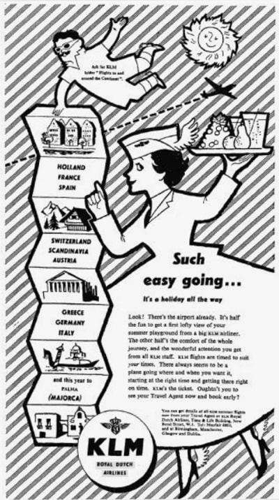 KLM Print Advert February 1956