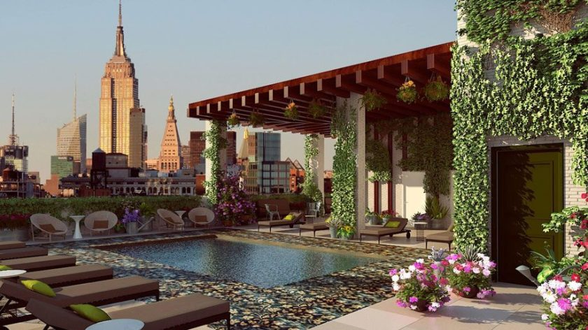 Marriott Renaissance Chelsea Rooftop Pool