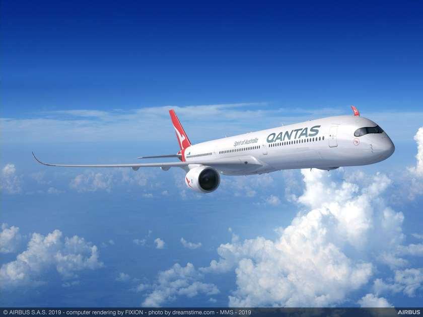 Qantas Airbus A350-1000 Aircraft CGI Image