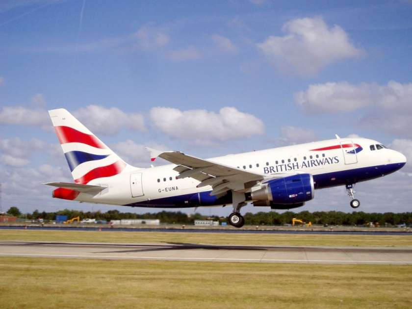British Airways Airbus A318 Aircraft, G-EUNA