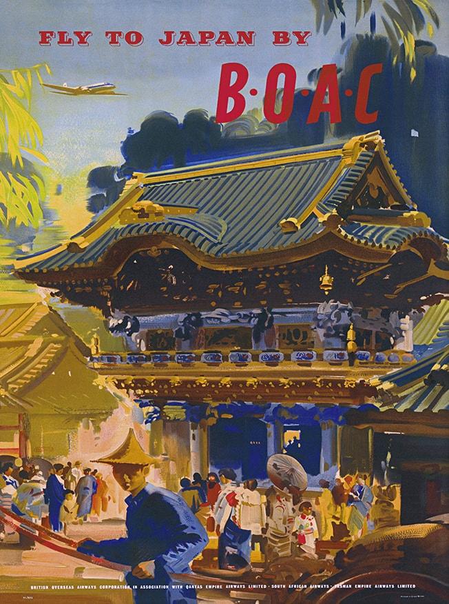 BOAC Japan Poster