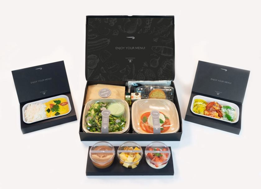 British Airways First Class A La Carte Meal Boxes, June 2020