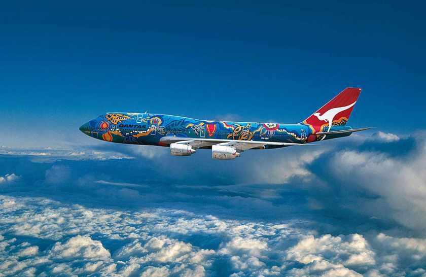 Qantas Boeing 747-338 Aircraft VH-EBU Nalanji Livery