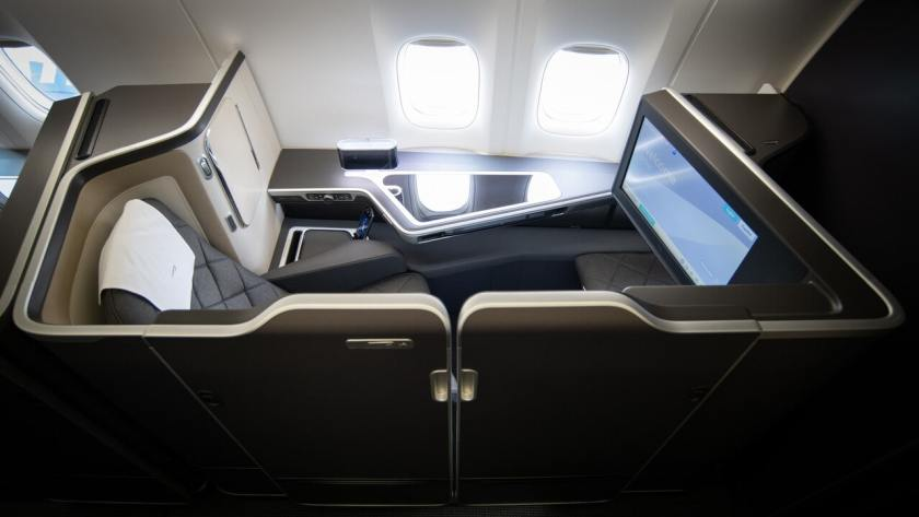 British Airways First Class Seat With Sliding Door, Boeing 777-300ER Aircraft
