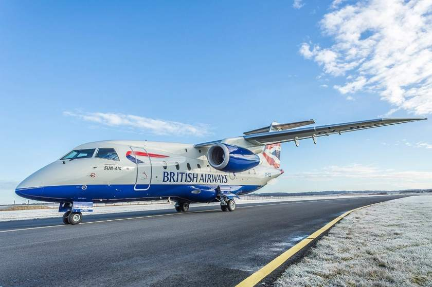 SUN-AIR Dornier 328 Jet in British Airways livery