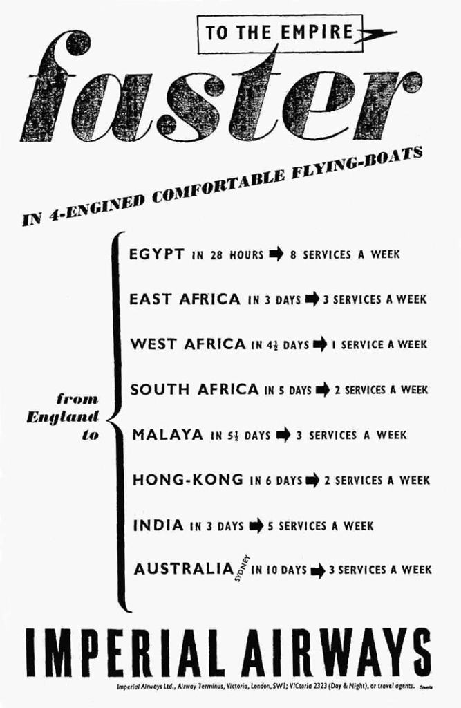 Imperial Airways Flying Boats, May 1939