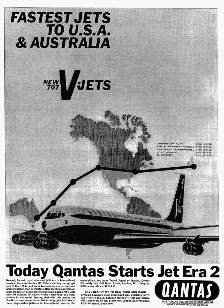 Qantas Boeing 707 V-Jets, 25 September 1961