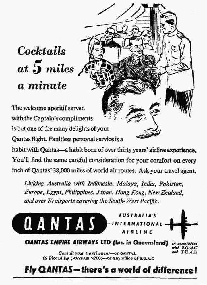 Qantas Advertisement, July 1952