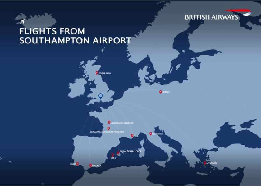 British Airways Route Network, Southampton