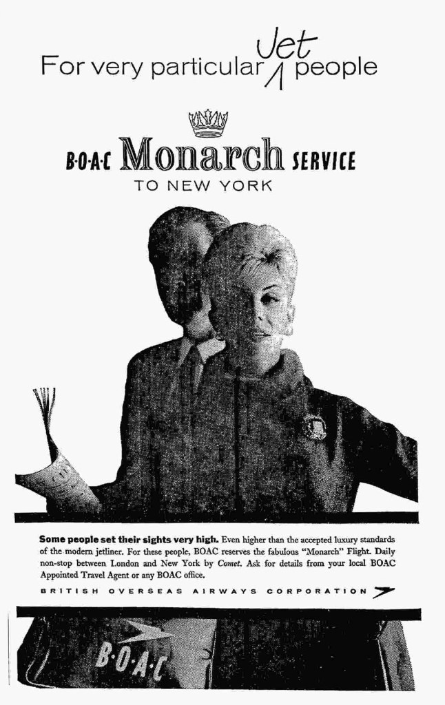 BOAC Monarch Service, London Heathrow - New York, 1960
