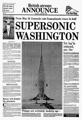 British Airways Concorde Publicity, Pre-launch of services to Washington, 20 April 1976