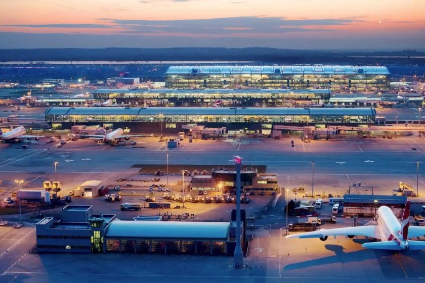 Heathrow Airport At Night
