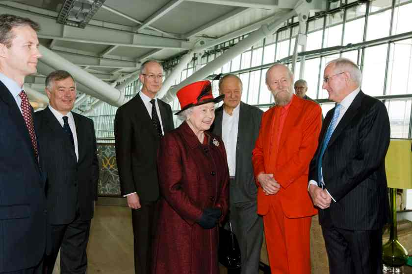 Her Majesty The Queen at the official opening of London Heathrow Terminal 5, 14 March 2008.