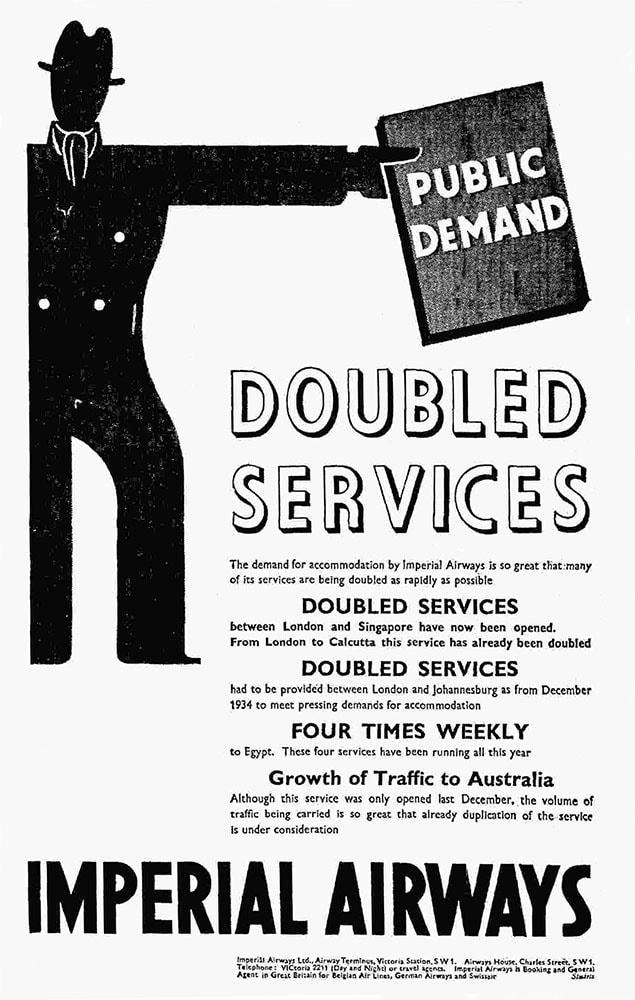 Advertisement for Imperial Airways, November 1935