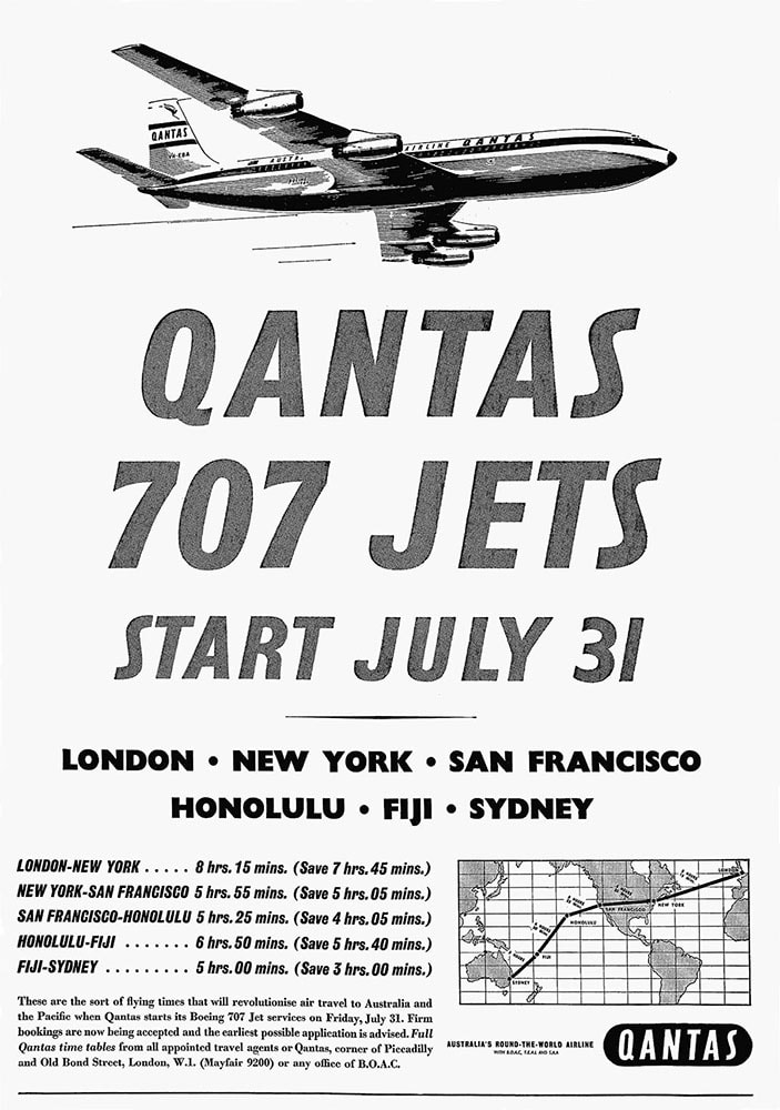 Poster for Qantas Airways, July 1959