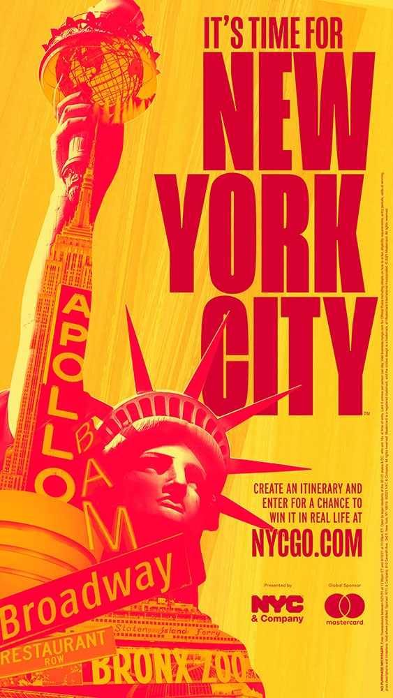 """""""It's Time For New York City"""" Advertising Campaign Poster"""