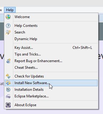 Eclipse Install New Software Screenshot
