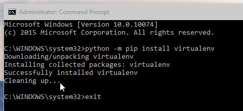 Windows 10 command prompt pip install screenshot