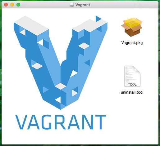Mac OS X Vagrant Installer Window Screenshot