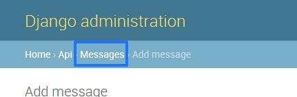 Django Admin Messages Screenshot
