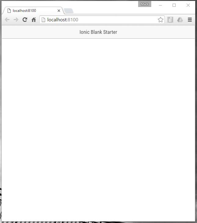 Ionic Blank Starter in Good Chrome
