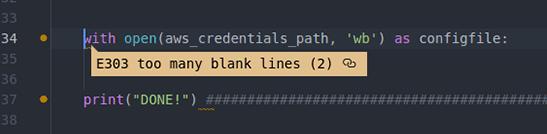 Screenshot of Atom Python Linter