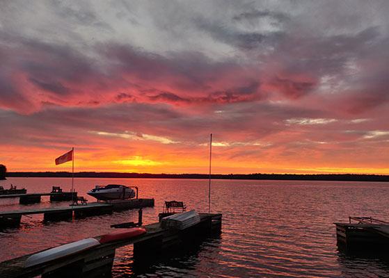 River sunrise image