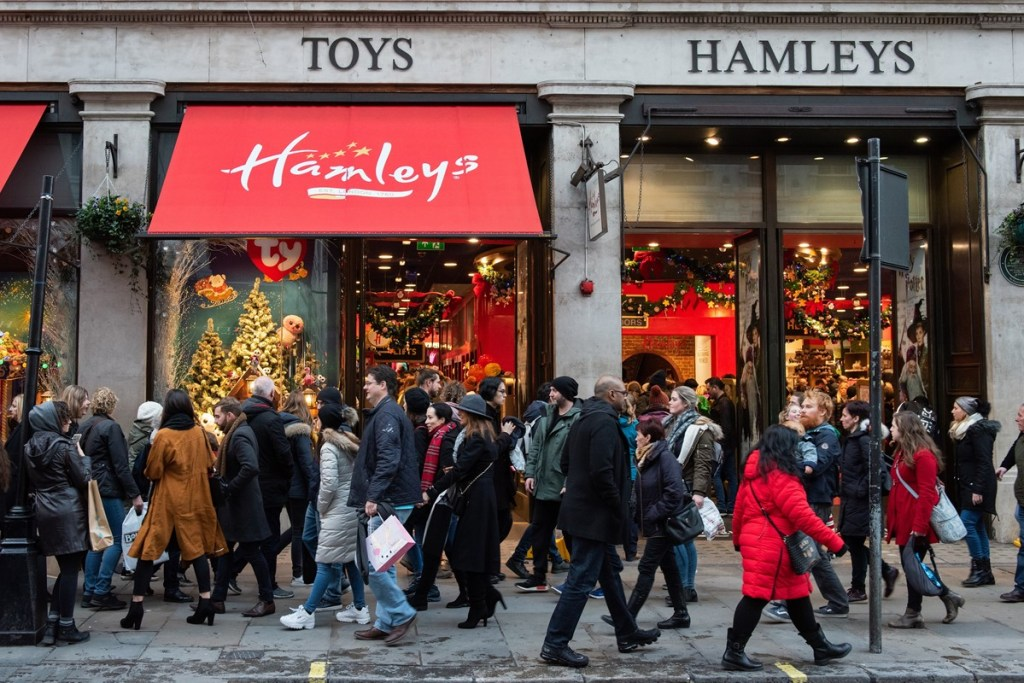 Hamleys toy shop London