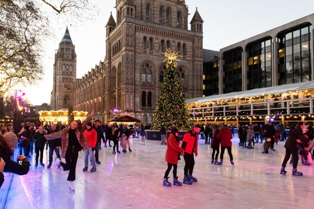 Ice skating London winter activities