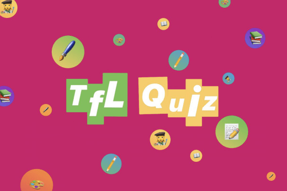 Graphic for TfL Creative Quiz using emojis