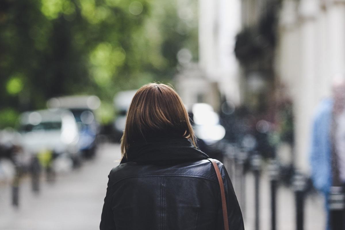 Person walking down street