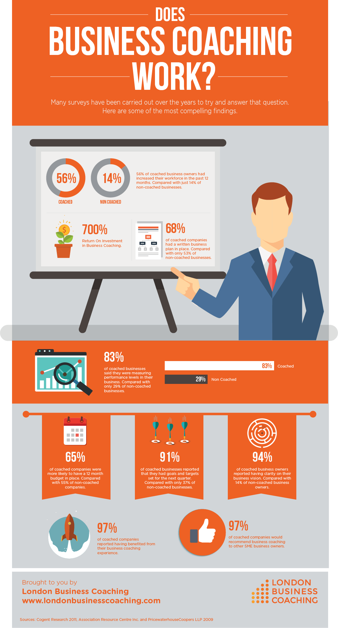Does Business Coaching Work Infographic