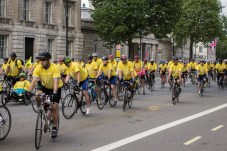 Cyclists on Whitehall.