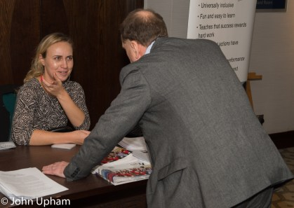 Tereza Pribanova, Conference Organiser with Chris Fegan, CSC Chief Operating Officer