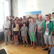 John with students at the Baltic Chess Camp 2014