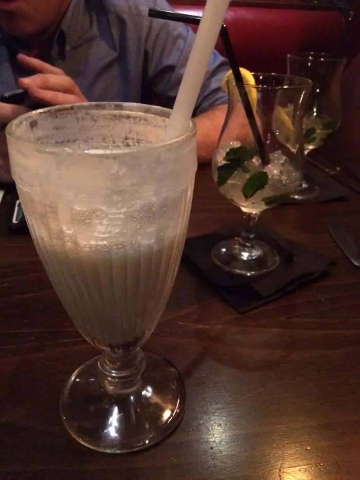 Pina Colada Ice Cream Shake at Sticky Fingers Kensington London