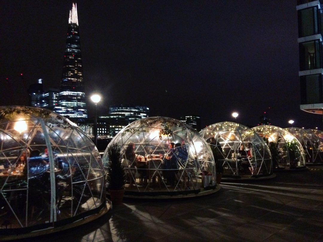Dinner in an Igloo at Coppa Club Tower Hill