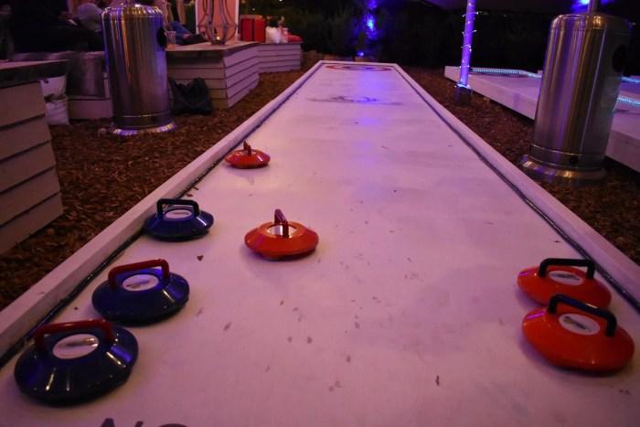 Curling at Winterland Fulham London