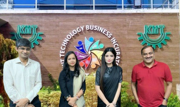 A group photo clicked in February 2020 from (right to left), Dr Mrutyunjay Suar, CEO & Founder KIIT TBI, Dr Lita Mohapatra, Founder LosJovenes Clinilogic Pvt Ltd, Dr Namrata Misra, Head Bio-Innovation, KIIT –TBI , Dr Gopal Chowdhary, Research Team Head