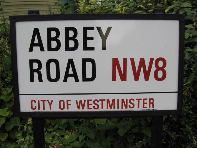 Five Reasons to Run Your Business from London - Abbey Road Street Sign