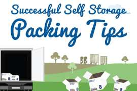Successful Self Storage Packing Tips Infographic